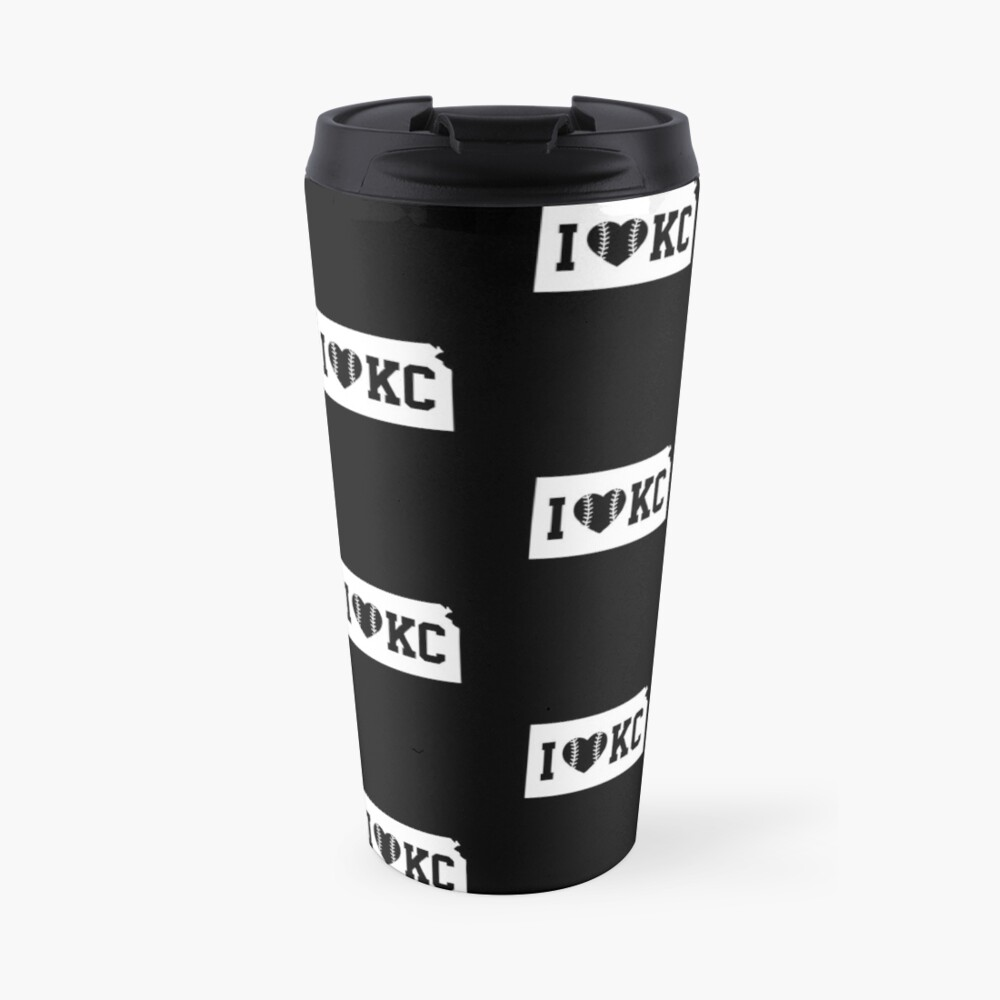 Love KC Baseball Kansas City Missouri Home State Pride Gift graphic Travel Mug