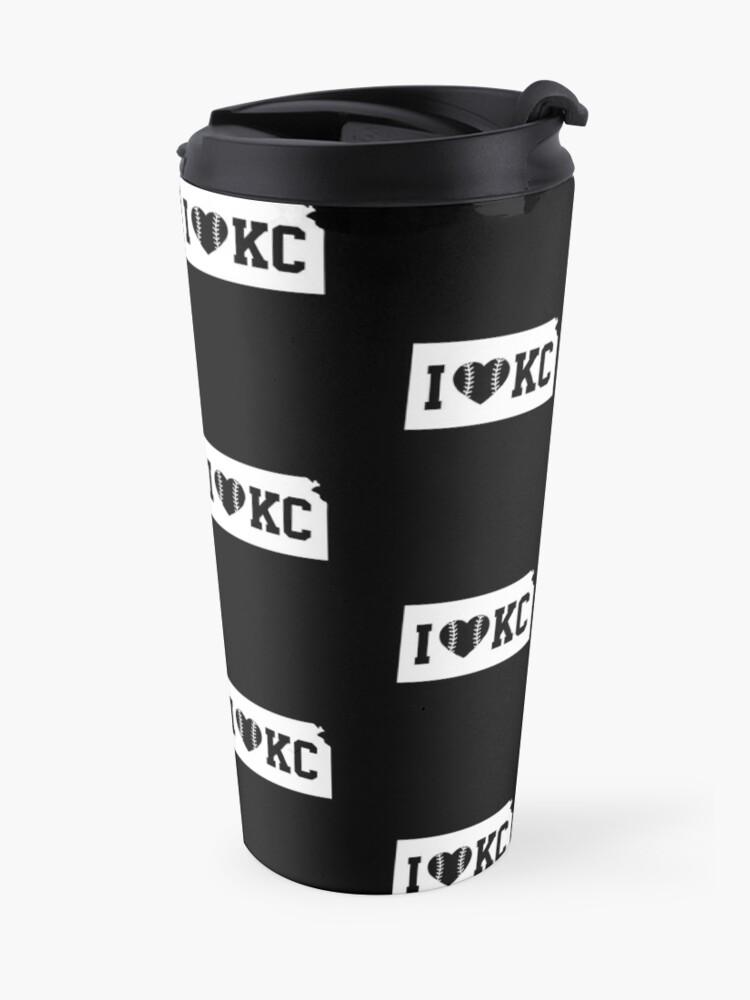 Alternate view of Love KC Baseball Kansas City Missouri Home State Pride Gift graphic Travel Mug
