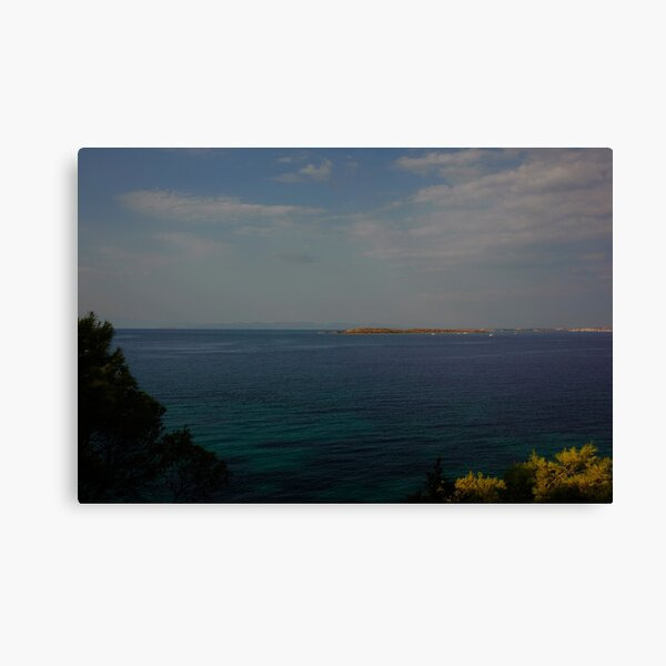 Mediterranean Seascape in Summer with Clouds Canvas Print