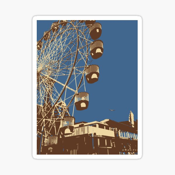 Luna Park Ferris Wheel Art Sticker