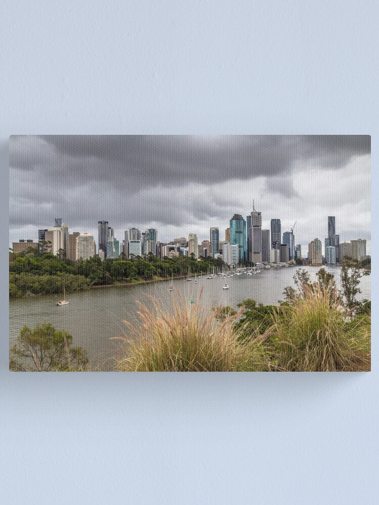 Alternate view of Brisbane from Kangaroo Point Cliffs Canvas Print
