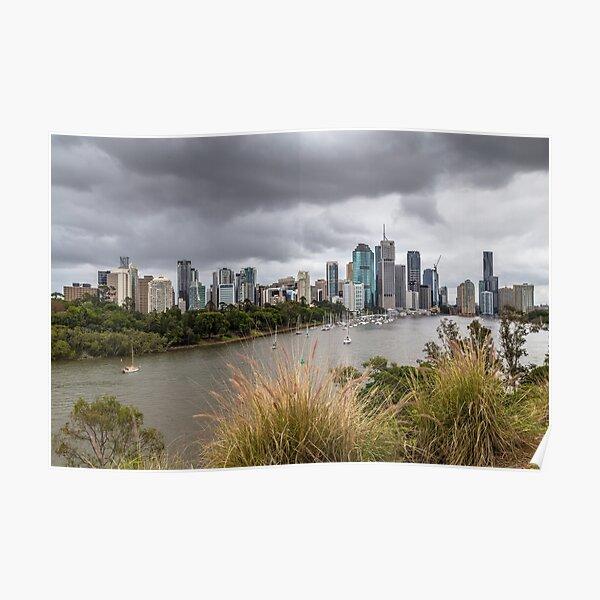 Brisbane from Kangaroo Point Cliffs Poster