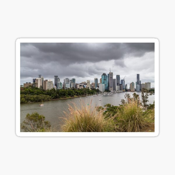 Brisbane from Kangaroo Point Cliffs Sticker