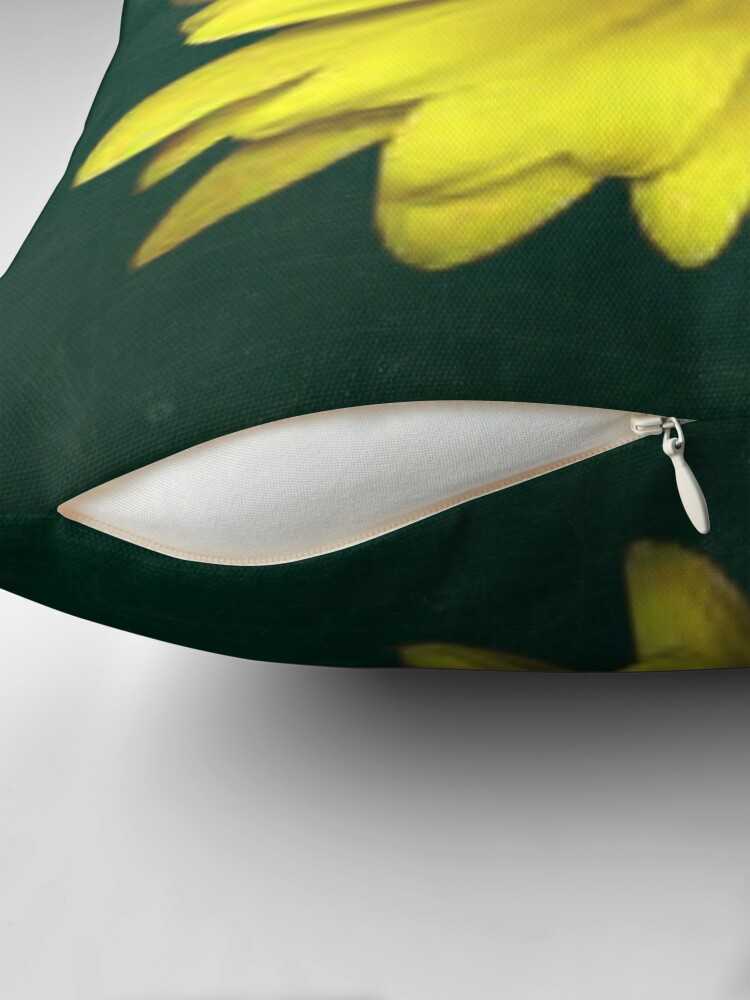 Alternate view of A Bright Yellow Flower Throw Pillow