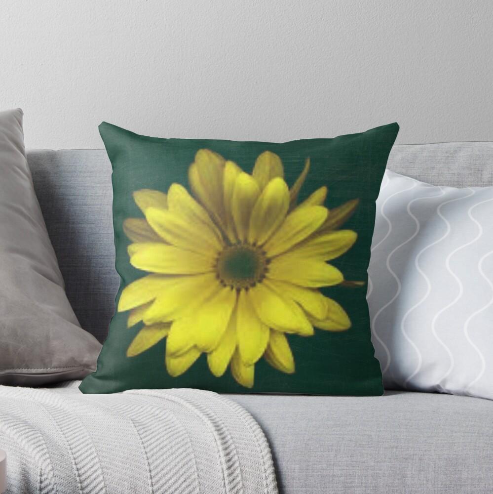 A Bright Yellow Flower Throw Pillow