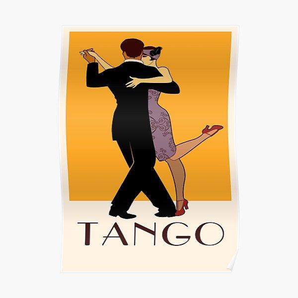 Art Deco Argentine Tango A Dreamer`s Dance Vintage Retro Art Argentina Buenos Aires Montevideo Poster