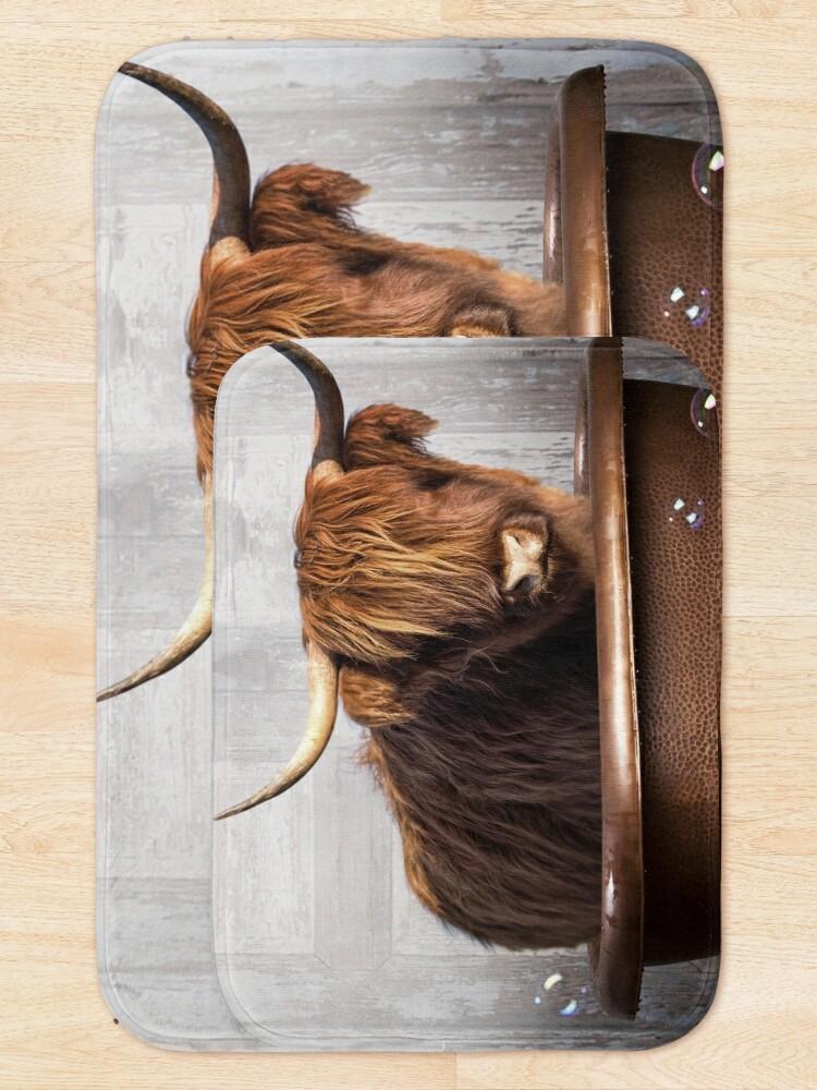 Alternate view of Highland Cow Bath Mat