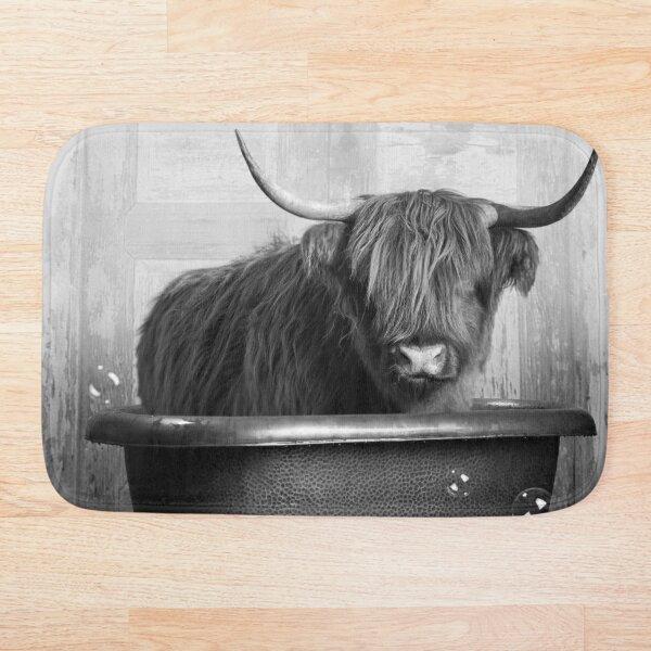 Highland Cow in the Bathtub Bath Mat