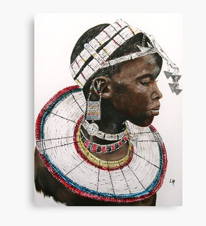Maasai beauty Canvas Print
