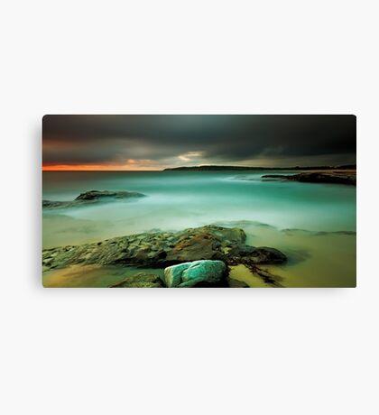 An Aqua Dawn Canvas Print