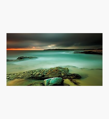 An Aqua Dawn Photographic Print