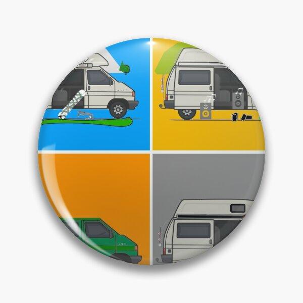 Campervans - Art Pin