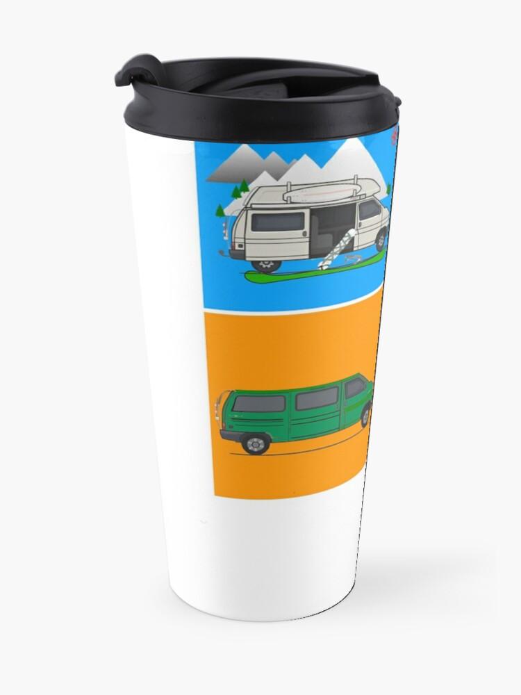 Alternate view of Campervans - Art Travel Mug