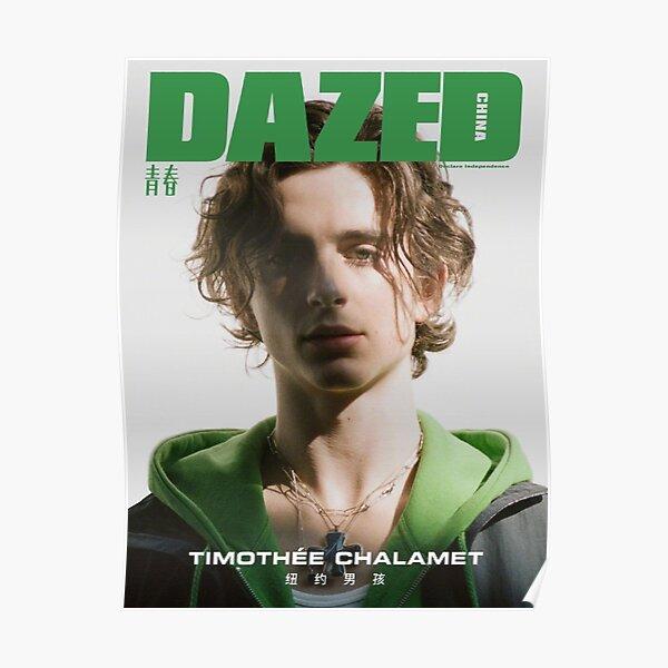 Timothée Chalamet DAZED poster Poster