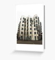 Gehry Building, Dusseldorf Greeting Card