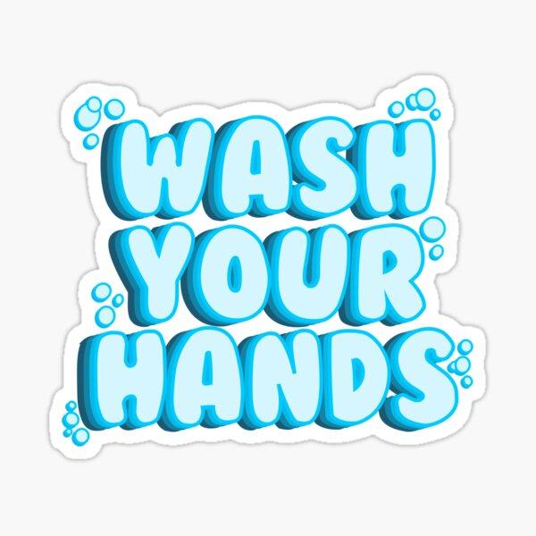 Lava tus manos Pegatina