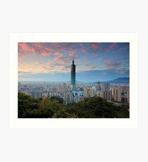 Taipei Sunset Art Print