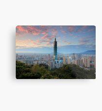 Taipei Sunset Metal Print