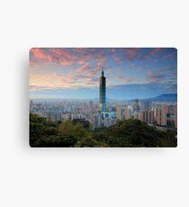 Taipei Sunset Canvas Print