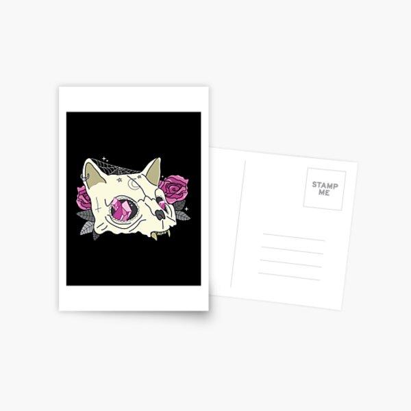 Cat Skull Postcard