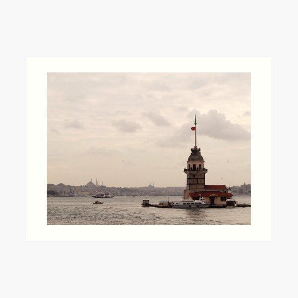Leander tower (Kız Kulesi) - Üsküdar Art Print