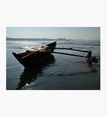 Fishing Boat Loaded with Nets Palolem Photographic Print