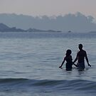 Couple in the Sea Palolem by SerenaB