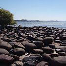 Boulders at Palolem Beach by SerenaB