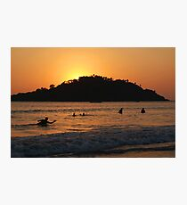 In the Sea at Sunset Palolem Photographic Print