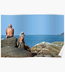Sitting on Rocks Palolem Poster