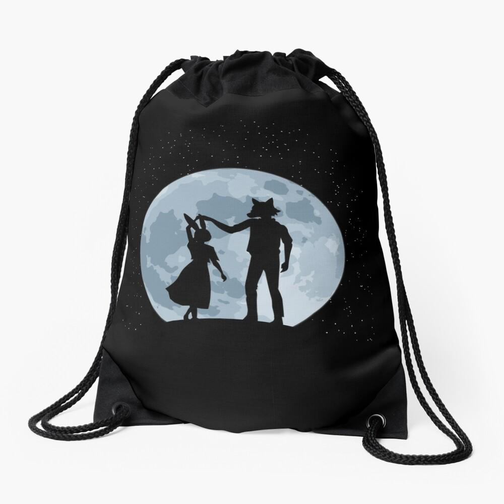 Beasts under the moon Drawstring Bag