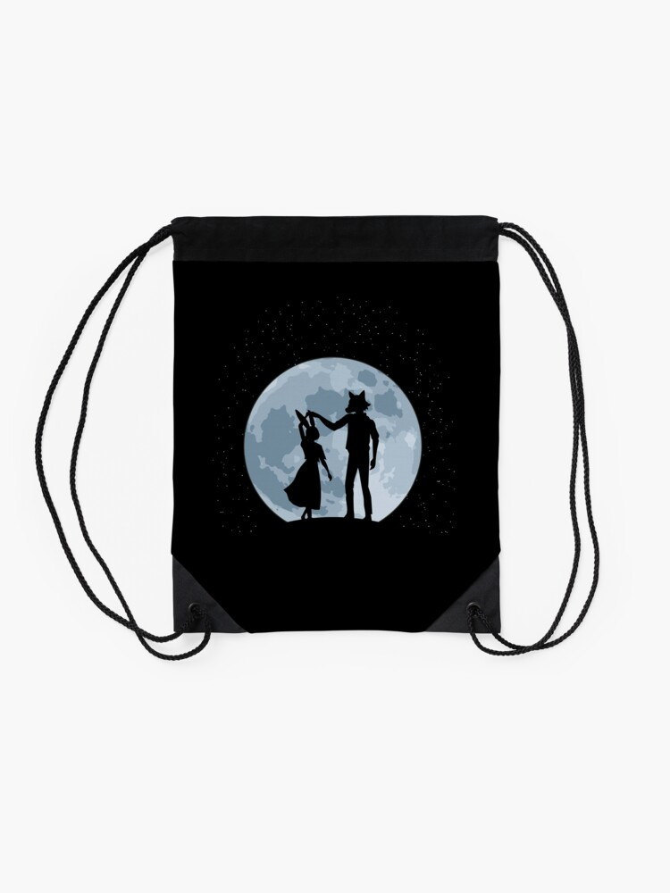 Alternate view of Beasts under the moon Drawstring Bag