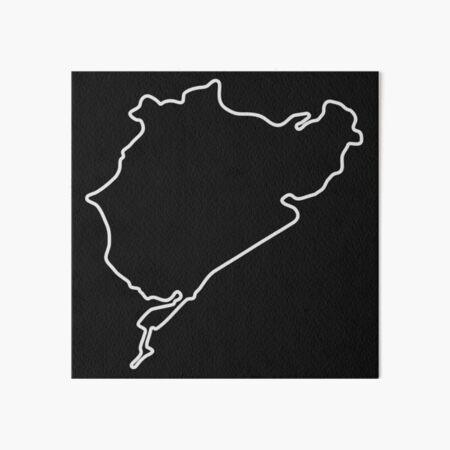 Nürburgring - Combined Circuit [outline] Art Board Print