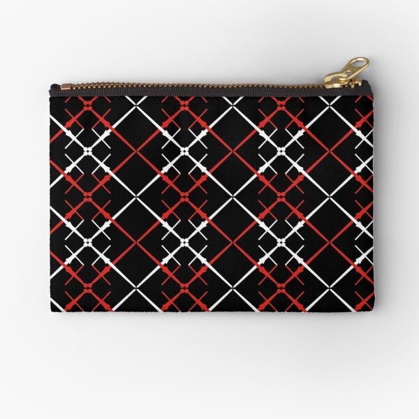 Crossed Spadoni Pattern Zipper Pouch