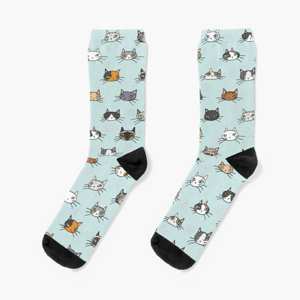 Cats crowd. That's all it is about Socks