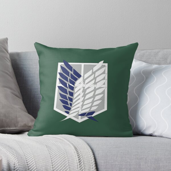 Attack on Titan: Wings Of Freedom Logo Throw Pillow