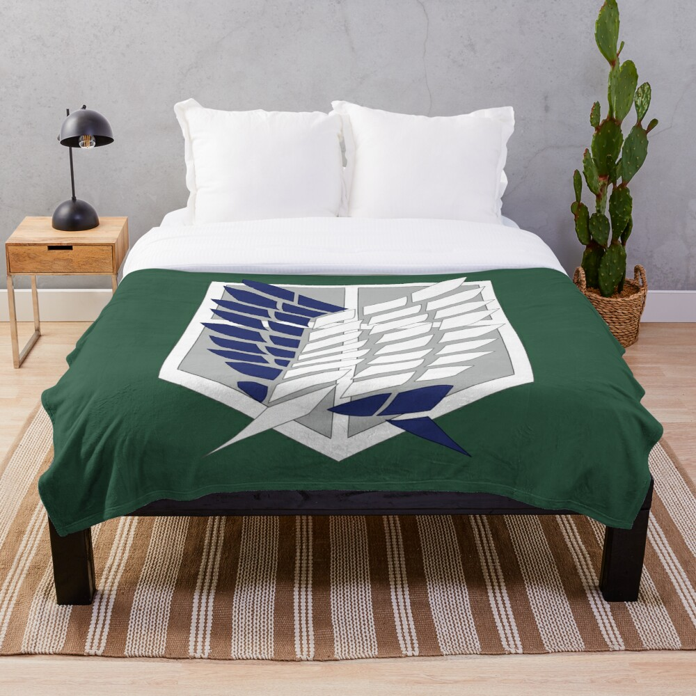 Attack on Titan: Wings Of Freedom Logo Throw Blanket