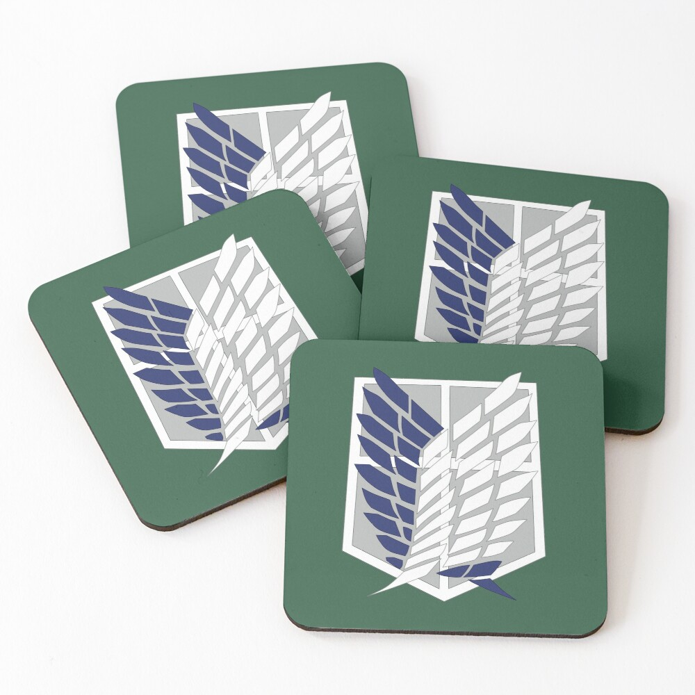 Attack on Titan: Wings Of Freedom Logo Coasters (Set of 4)