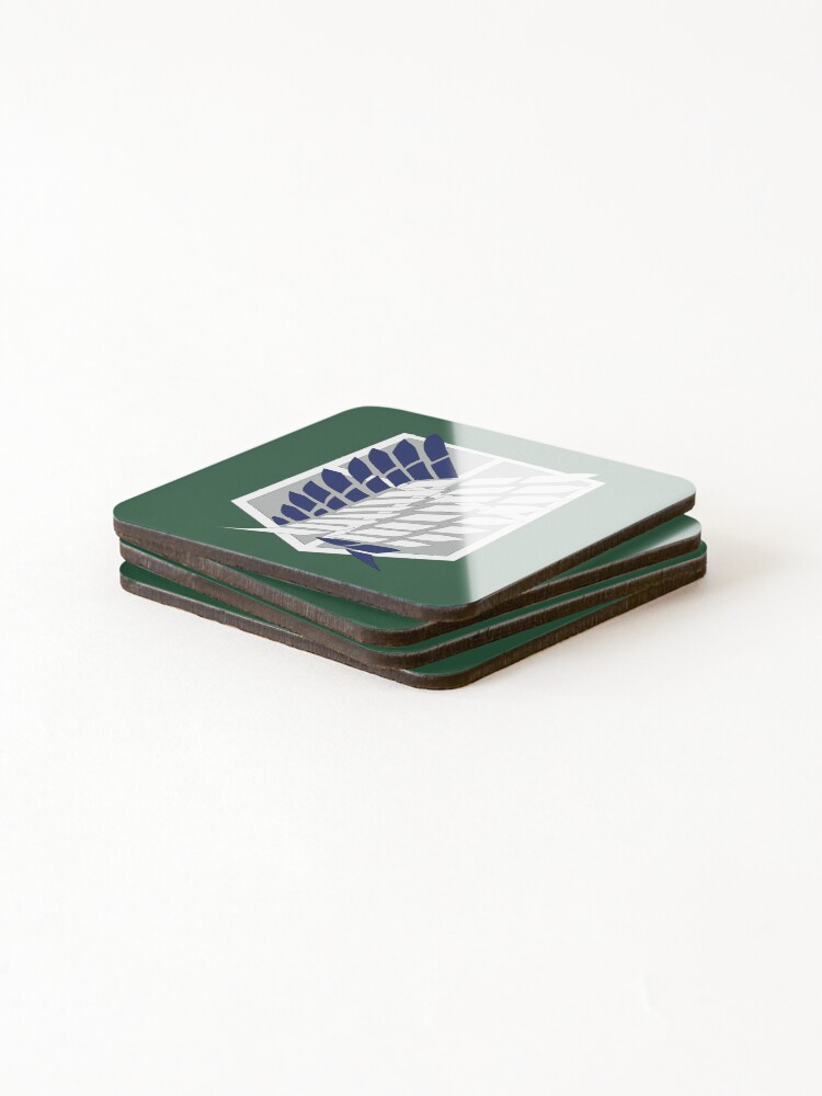 Alternate view of Attack on Titan: Wings Of Freedom Logo Coasters (Set of 4)