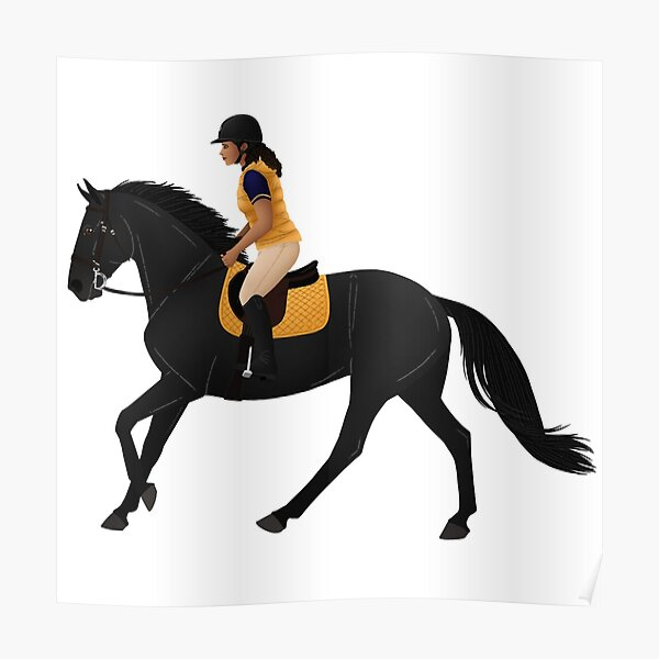 Zoe and Raven from Free Rein - Equine Rampaige Poster