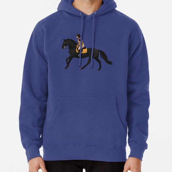 Zoe and Raven from Free Rein - Equine Rampaige Pullover Hoodie