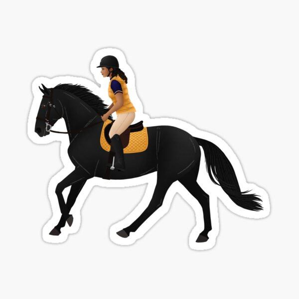 Zoe and Raven from Free Rein - Equine Rampaige Sticker