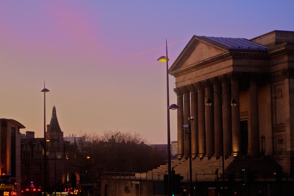 St. Georges Hall Sunset by cavan michaelides