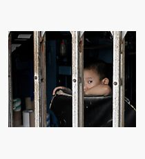 Boy in Cage - Peter Jackson Photographic Print