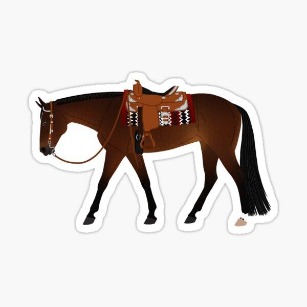 Bay Western Pleasure Horse - Equine Rampaige Sticker