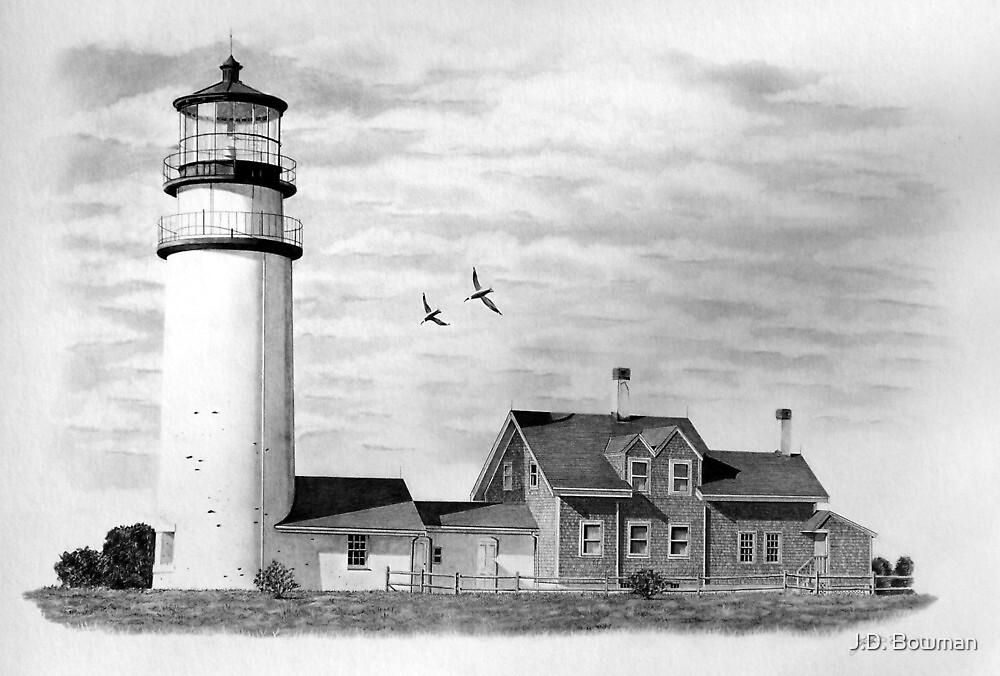Highland Lighthouse, Cape Cod, Ma. by J.D. Bowman
