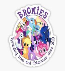 Bronies, classic logo Sticker