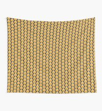 Emoji Heart Eyes Black Background Wall Tapestry