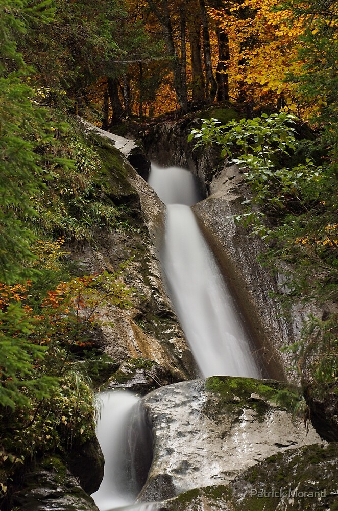 Diomaz waterfall in autumn by Patrick Morand