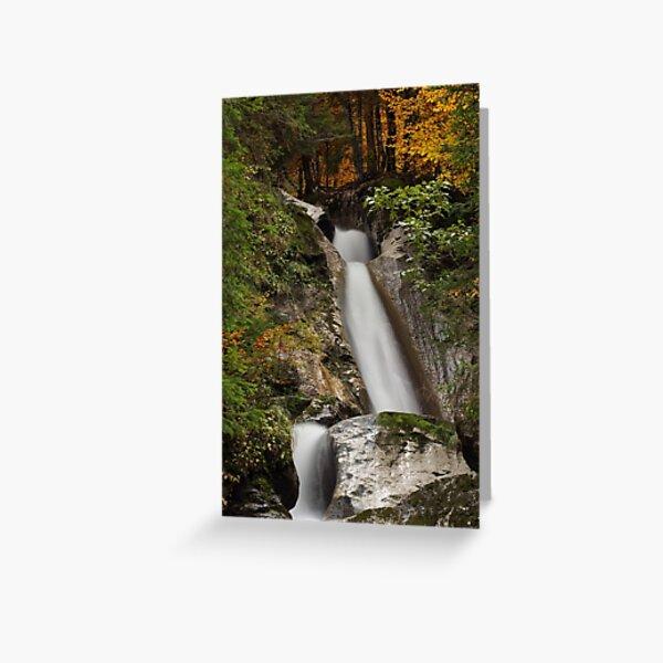 Diomaz waterfall in autumn Greeting Card